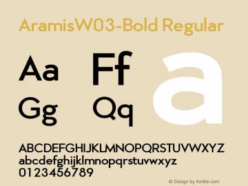 Aramis W03 Bold Version 2.00图片样张