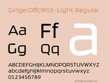 Ginger Offc W02 Light Version 7.504图片样张