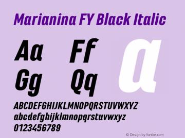 Marianina FY Black Italic Version 1.000图片样张