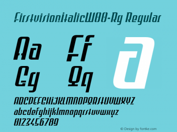 FirstvisionItalic W00 Regular Version 2.00图片样张