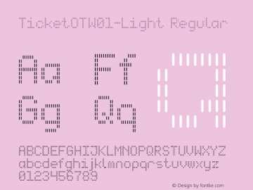 Ticket OT W01 Light Version 7.504图片样张
