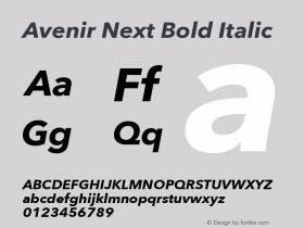 Avenir Next Bold Italic 8.0d2e1图片样张