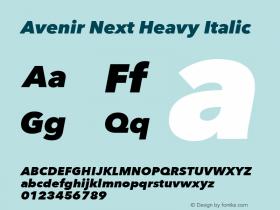 Avenir Next Heavy Italic 8.0d2e1图片样张