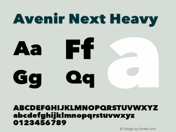 Avenir Next Heavy 8.0d2e1图片样张