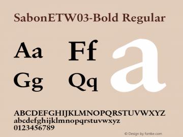 Sabon ET W03 Bold Version 1.1图片样张
