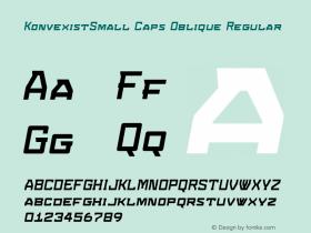 KonvexistSmall Caps Oblique W00 Version 4.10图片样张