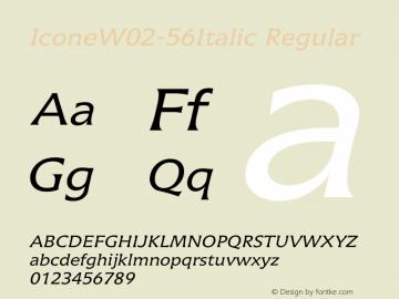 Icone W02 56 Italic Version 1.01图片样张