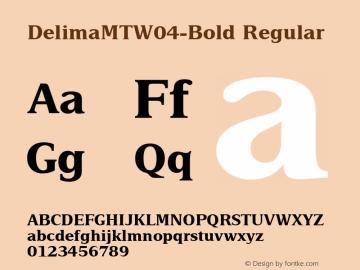 Delima MT W04 Bold Version 1.00图片样张