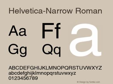 Helvetica-Narrow Roman Version 1.00 Font Sample