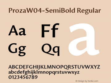 Proza W04 SemiBold Version 1.00图片样张