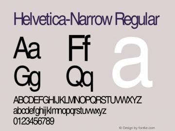 Helvetica-Narrow Regular OTF 1.0;PS 003.000;Core 1.0.22 Font Sample
