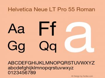 HelveticaNeueLT Pro 55 Roman Version 1.00 Build 1000图片样张
