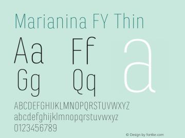 Marianina FY Thin Version 1.000图片样张