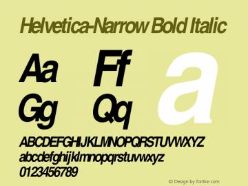 Helvetica-Narrow Bold Italic OTF 1.0;PS 003.000;Core 1.0.22 Font Sample