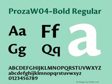 Proza W04 Bold Version 1.00图片样张