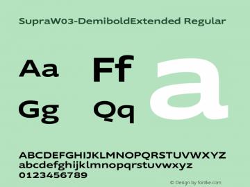 Supra W03 DemiboldExtended Version 2.00图片样张