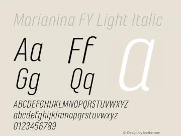 Marianina FY Light Italic Version 1.000图片样张