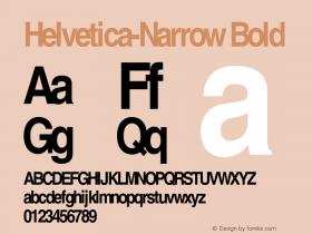 Helvetica-Narrow Bold OTF 1.0;PS 003.000;Core 1.0.22 Font Sample