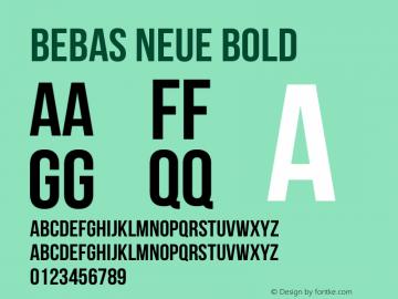 BebasNeueBold Version 1.300图片样张