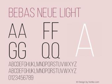 BebasNeueLight Version 001.003图片样张
