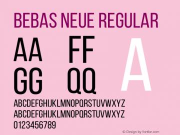 BebasNeueRegular Version 001.003图片样张