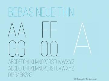 BebasNeue-Thin Version 1.003;PS 001.003;hotconv 1.0.70;makeotf.lib2.5.58329图片样张