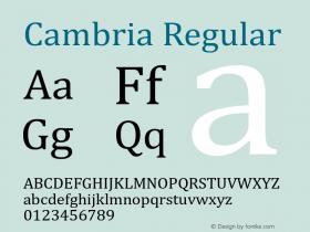 Cambria Version 6.96图片样张
