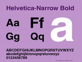 Helvetica-Narrow Bold Version 1.00 Font Sample
