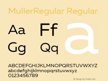 MullerRegular Version 1.0;com.myfonts.easy.font-fabric.muller.regular.wfkit2.version.4o4u图片样张
