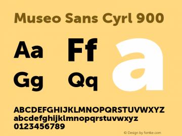 Museo Sans Cyrl 900 Regular Version 1.023图片样张