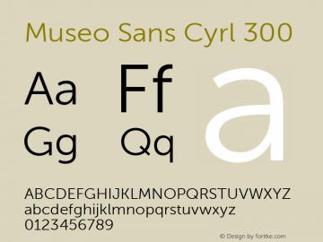 Museo Sans Cyrl 300 Regular Version 1.023图片样张