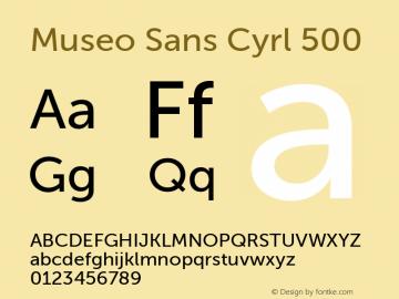 Museo Sans Cyrl 500 Regular Version 1.023图片样张