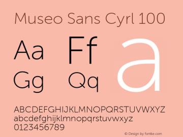 Museo Sans Cyrl 100 Regular Version 1.023图片样张