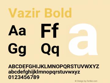 Vazir Bold Version 15.1.0图片样张