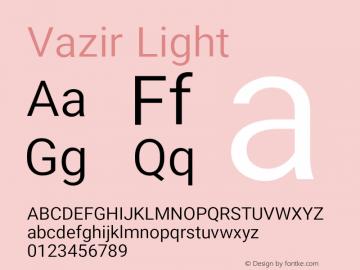 Vazir Light Version 15.1.0图片样张