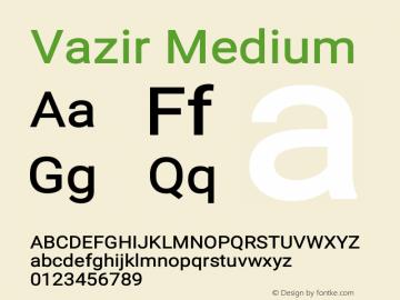 Vazir Medium Version 15.1.0图片样张