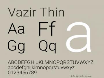 Vazir Thin Version 15.1.0图片样张