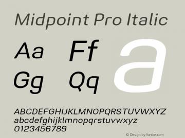 Midpoint Pro Oblique Version 1.000; ttfautohint (v0.97) -l 8 -r 50 -G 200 -x 14 -f dflt -w G图片样张