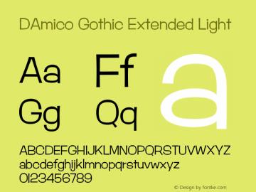 DAmico Gothic Extended Light Version 1.200;PS 1.001;hotconv 16.6.54;makeotf.lib2.5.65590图片样张