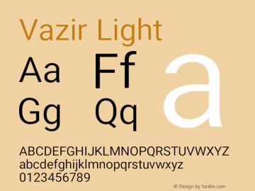 Vazir Light Version 16.0.0图片样张