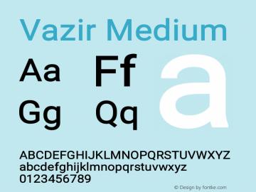 Vazir Medium Version 16.0.0图片样张