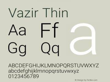 Vazir Thin Version 16.0.0图片样张