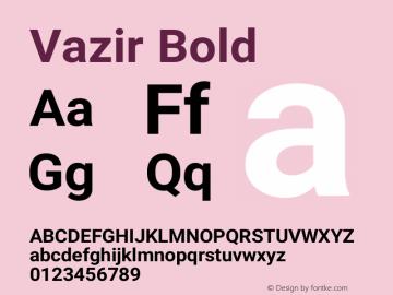 Vazir Bold Version 16.0.1图片样张