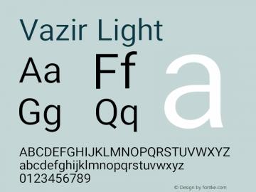 Vazir Light Version 16.0.1图片样张