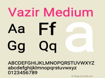Vazir Medium Version 16.0.1图片样张