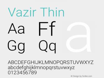 Vazir Thin Version 16.0.1图片样张
