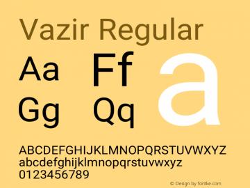 Vazir Version 16.0.1图片样张