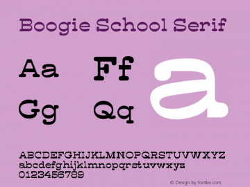 Boogie School SansSerif Version 1.00, SI, December 30, 2016, initial release图片样张