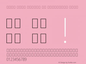 Noto Sans Arabic UI Condensed Thin Version 2.000 Font Sample