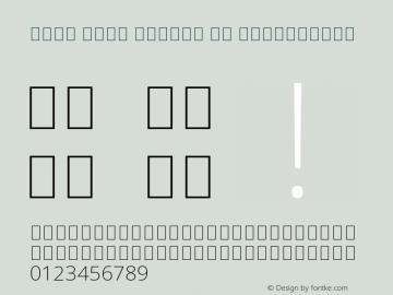 Noto Sans Arabic UI ExtraLight Version 2.000 Font Sample